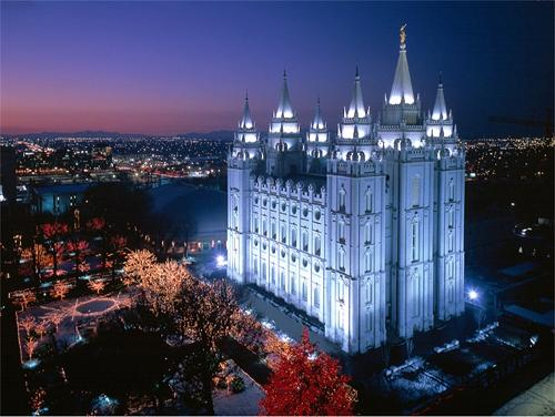 What are Mormon buildings used for?