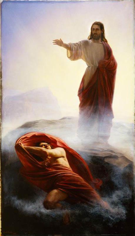 Jesus Christ ordered Satan to leave.