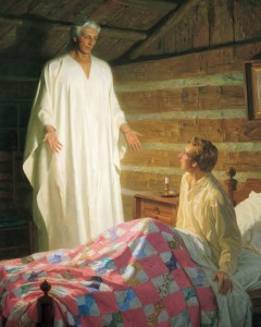 Mormon Joseph Smith Sees the Angel Moroni