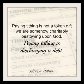 Why Do Mormons Require Tithing?
