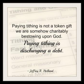 Paying Tithing Discharge Debt