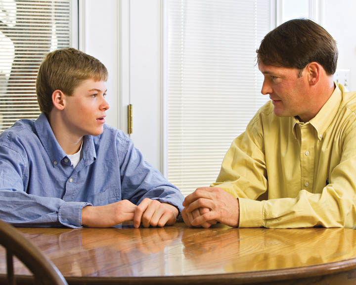 Mormon father and son talk