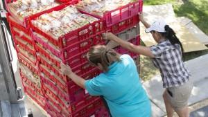 Delivering food to Hildegarde Episcopal Food Pantry